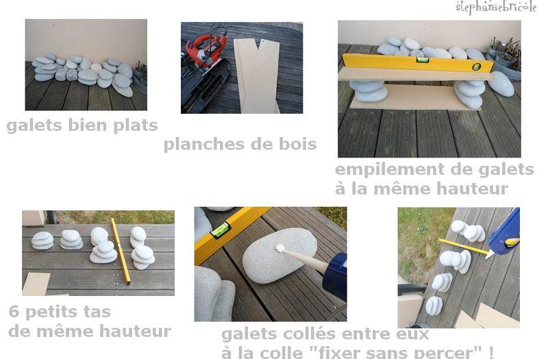 Un Meuble Tag Re Avec Des Galets Des Planches De Bois Et De La Colle St Phanie Bricole