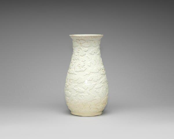 A blanc-de-chine vase, 19th century