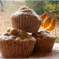 Muffins Monday d'automne: pomme-chtaigne-gru de cacao