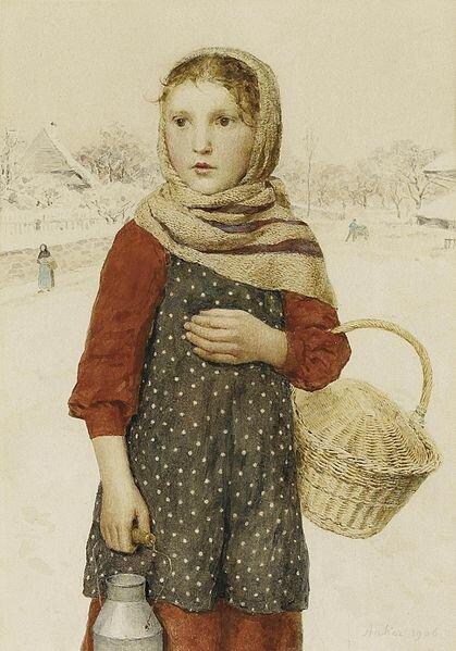 419px_Albert_Anker___M_dchen_in_Winterlandschaft
