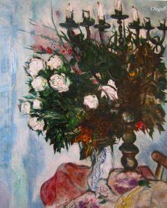 Le Chandelier et les Roses Blanches 1929 détail