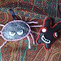 Lapin et araignée porte-clef