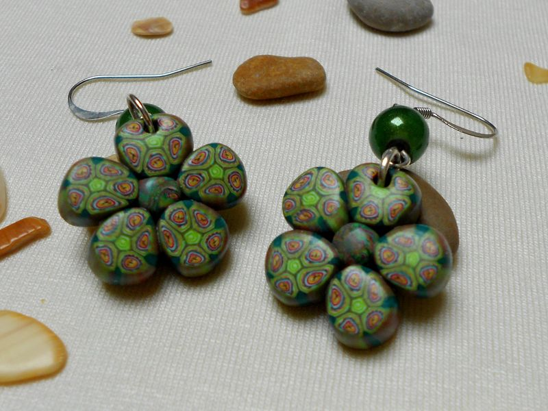 Boucles d'oreilles Flora Verde