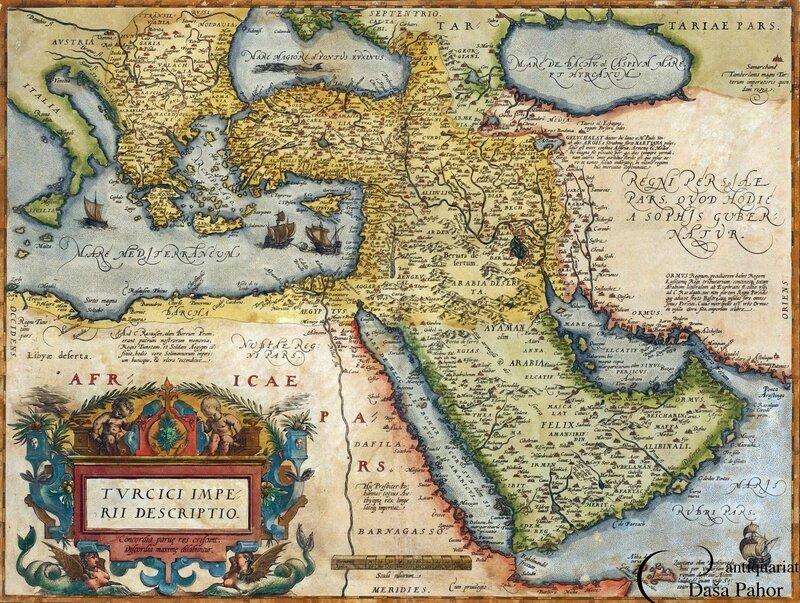 carte Ortelius 1595