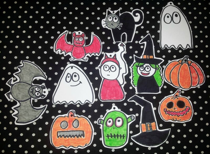 GUIRLANDE DIY - HALLOWEEN 1 coloriée