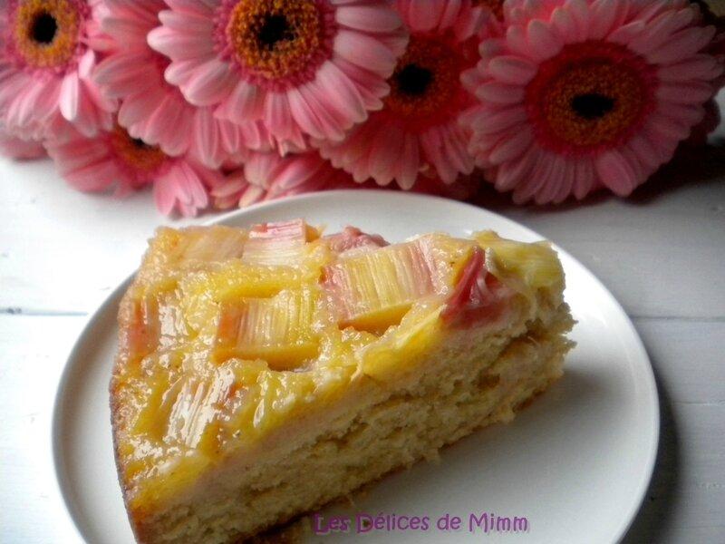 Gâteau à la rhubarbe, façon tatin 4