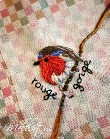 RougeGorge Broderie