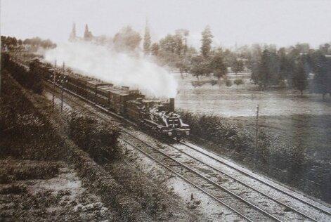 train photographié par Zola à Médan