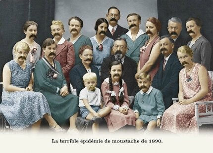 terrible épidémie de moustache