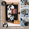 Kit atelier tiny album de février 2017 scrapé par is@ de belley