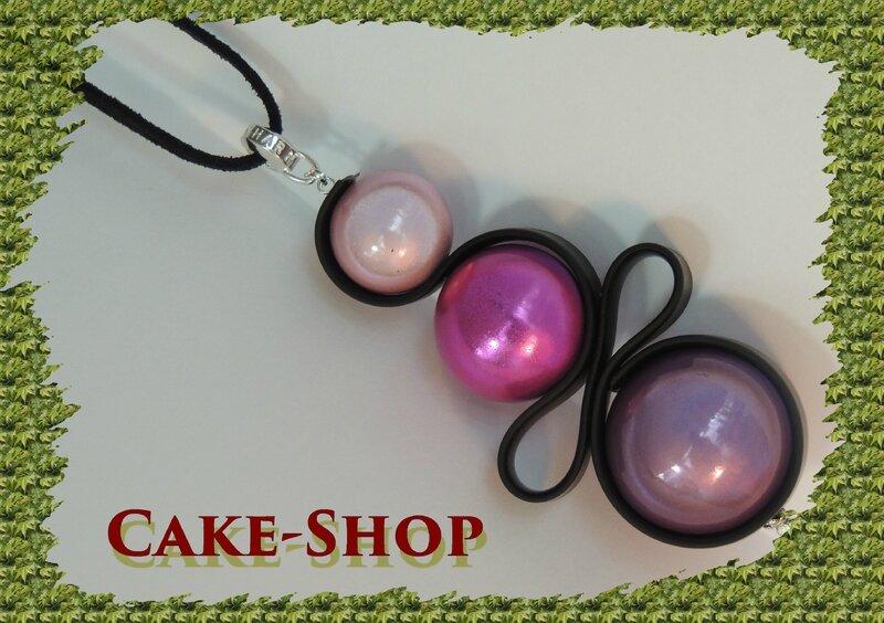 Collier perles roses1