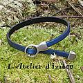 Fin et original à la fois, ce bracelet en cuir bleu marine métallisé habillera votre poignet avec différence ! ;-)