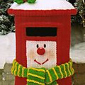 Clarence the christmas postbox - celebration clowns - jean greenhowe