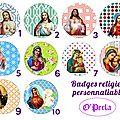 choix badges religieux