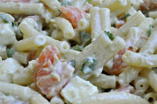 salade de p 226 tes froides au saumon fum 233 et guacamole le festin de nounouille