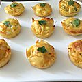 Bouchées moelleuses carotte-chèvres ( mini-muffins)