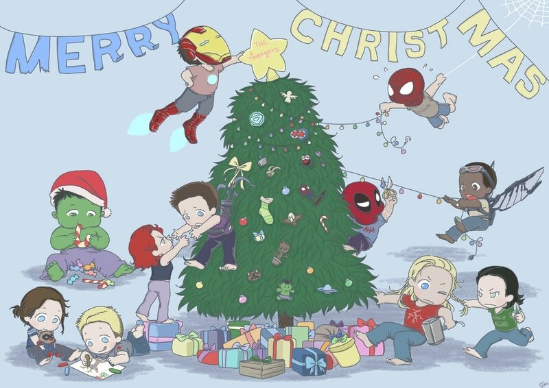 the_avengers_babies_christmas_card_by_silassamle-d8b62ib