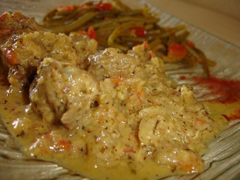 Saute de porc au curry maison les d lices d 39 h l ne - Cuisiner le saute de porc ...