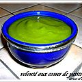 VELOUTE AUX COSSES DE PETITS POIS
