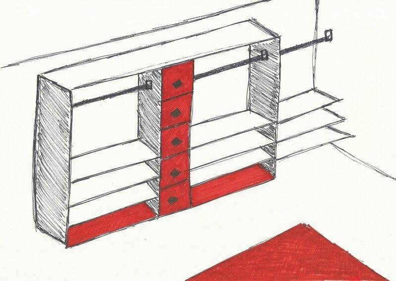Construire un dressing pour moins de 150 d coration for Dessin dressing