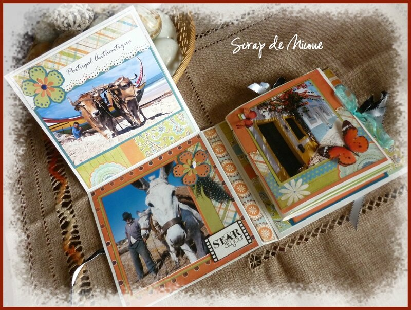 mini album 2 en 1 portugal carnet de voyages et tutoriel scrap de nicoue. Black Bedroom Furniture Sets. Home Design Ideas