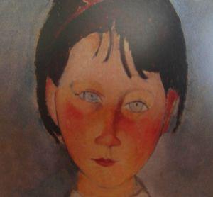 Fillette en bleu détail -Modigliani