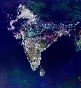 Satellite View India - Diwali day