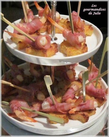 canapes crevettes pancetta pdt