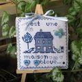 Violette: maison bleue