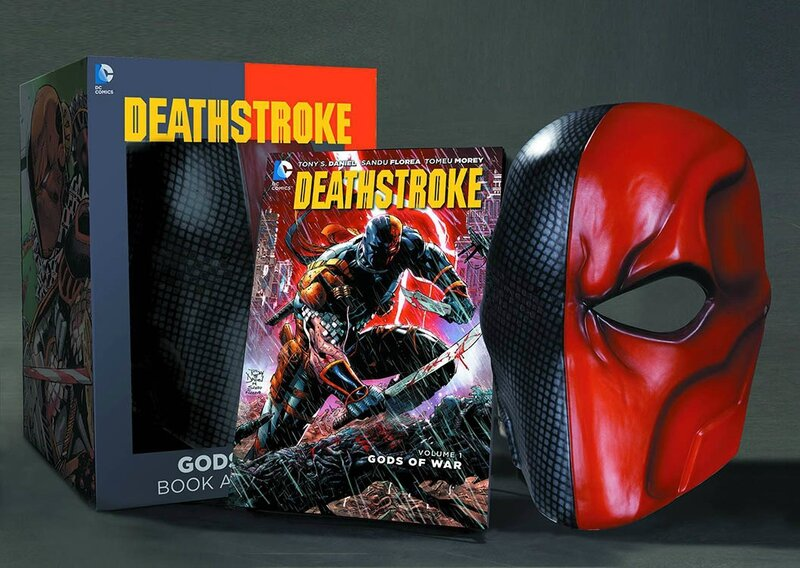deathstroke vol 1 gods of war TP book and mask set