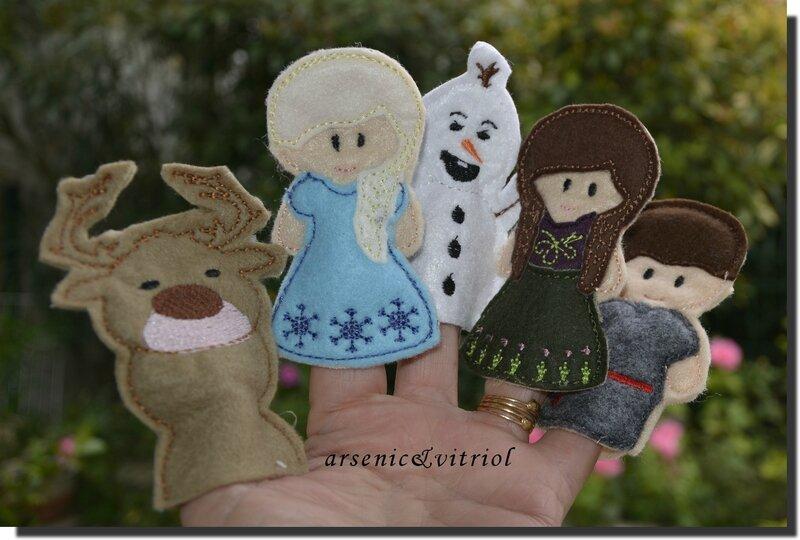 puppets reine des neiges