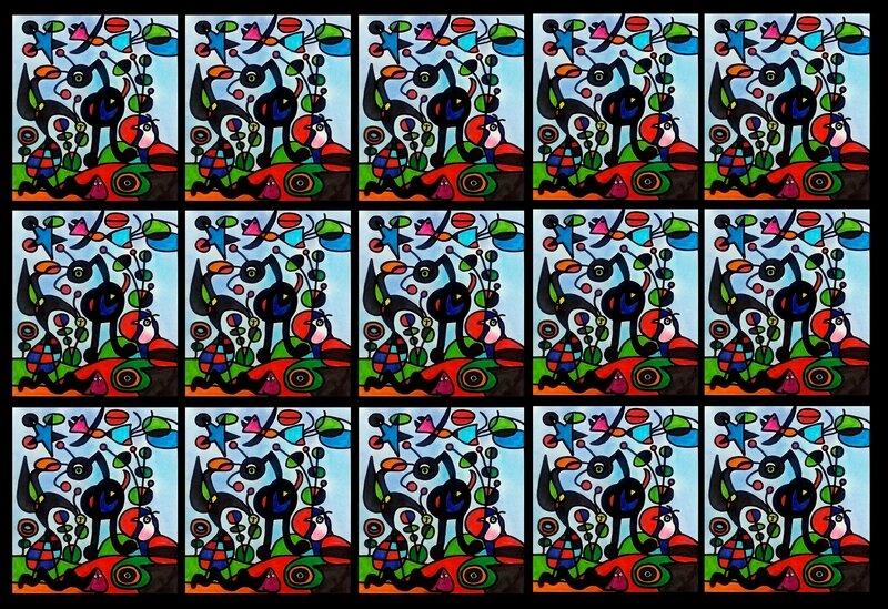 251_ Compositions abstraites_Mêlo Miro (fresque)