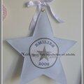 veilleuse étoile tissu bleu ciel motif