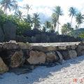 Marae au bord du Pacifique