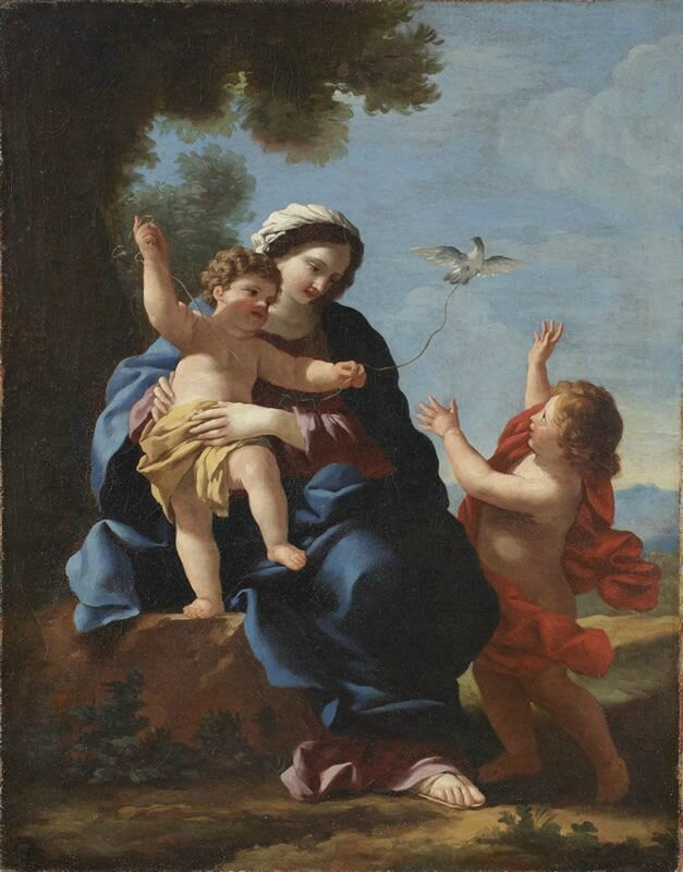 Giovanni Francesco Romanelli, The Virgin and Child with the Young Saint John, oil on canvas, circa 1640, Rome, Rome Foundation Collection