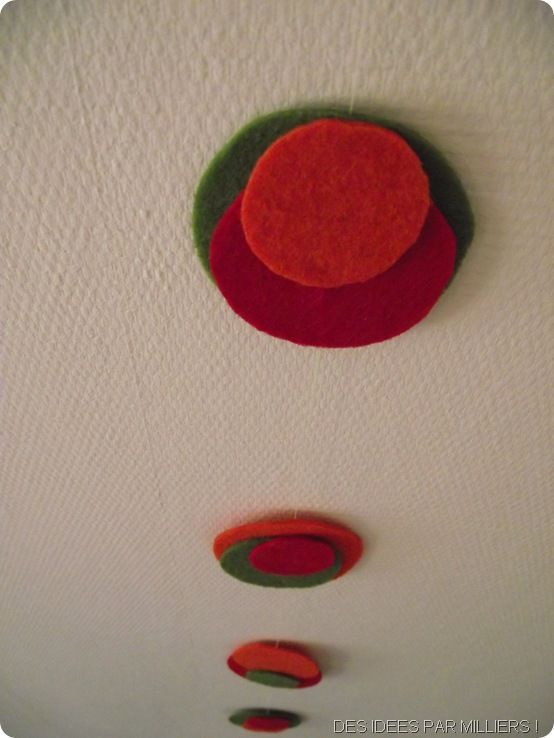 Guirlande de feutrine - Facile - Rouge - vert- orange (3)