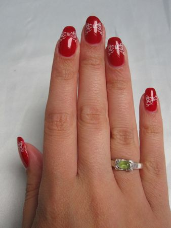 nail art minnie mouse