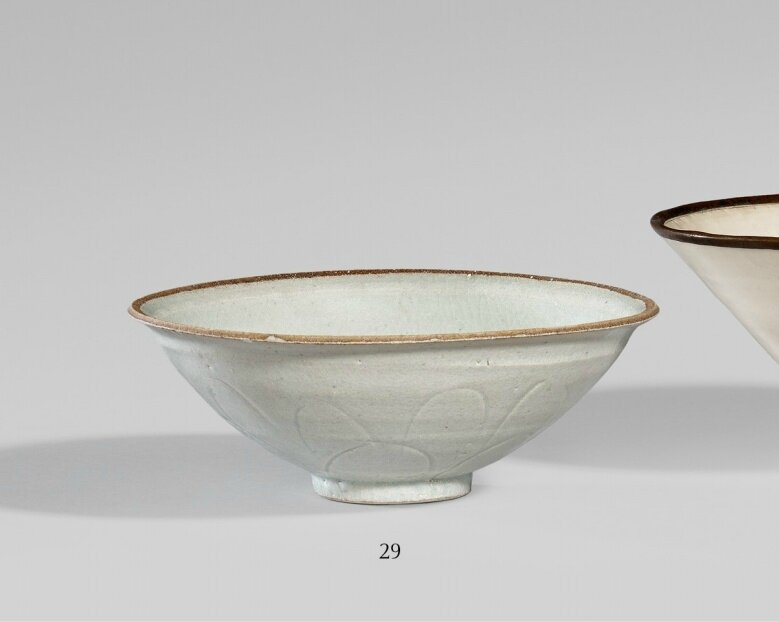 A Qingbai bowl. Song Dynasty (907–1279)