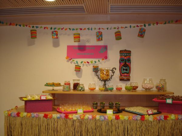 Anniversaire th me hawa happy days party creations for Article deco