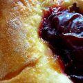 Carrés briochés aux prunes et aux abricots