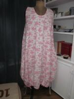 Robe HENRIETTE en coton imprimé toile de jouy rose sur fond écru (2)