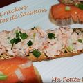 Crackers aux rilletes de saumon