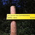 Sare, sentier des contrebandiers (64)