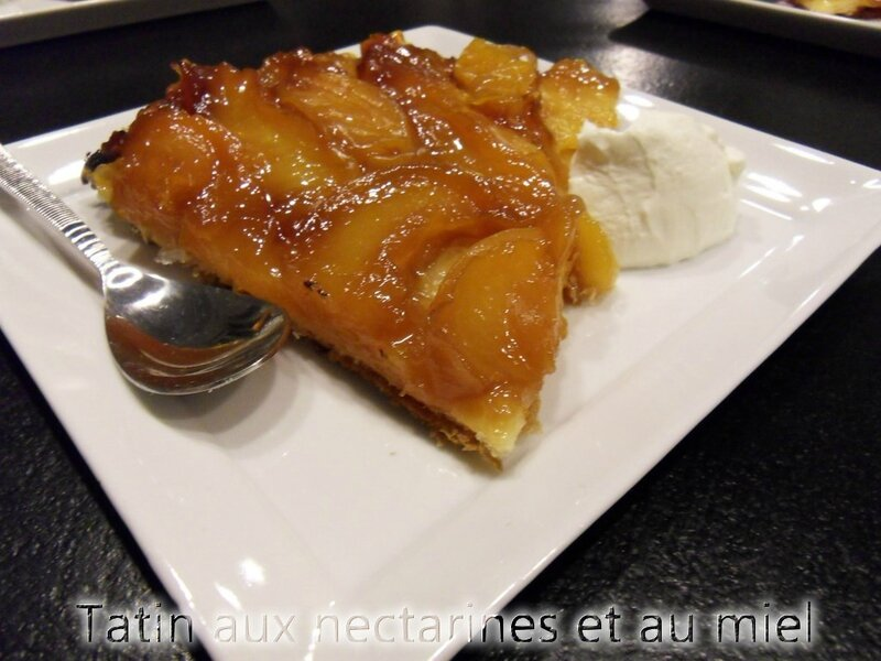 tatin aux nectarines et miel2