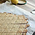 Crackers aux algues et au citron {recette} avec la purée de tahin jean hervé