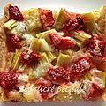 Tarte légère fraises rhubarbe