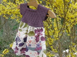 Robe d'été en coton et Liberty by Sandrine