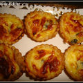 mini quiches au roquefort