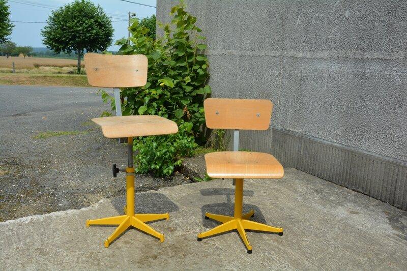 Chaises d 39 atelier jaunes la petite brocanteuse - Trace de rouille sur inox ...