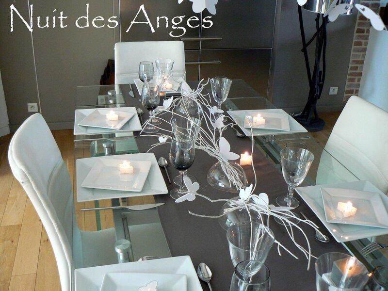 Nuit des anges décoratrice de mariage décoration de table papillons 003